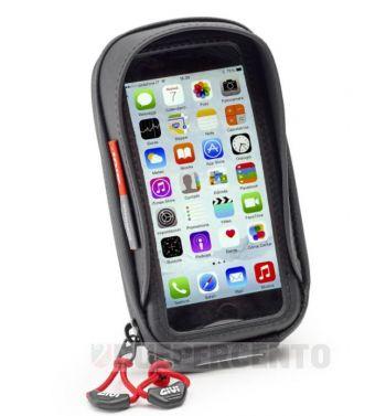 Supporto per smartphone GIVI per montaggio su asta specchietto/parabrezza/tubo manubrio