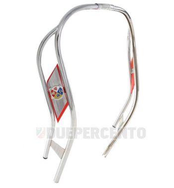Profilo scudo CUPPINI a doppio tubo color cromo per Vespa 125 GT/GTR/Super/TS/150 Sprint/V/Super/180-200 Rally
