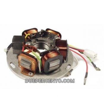 Statore PIAGGIO 7 cavi, 5 bobine per Vespa PX125-200 E Lusso con batteria
