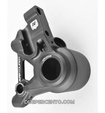Supporto pinza AF Parts freno anteriore nera, per pinza a 4 pistoncini STAGE 6, ADELIN - per Vespa PX125-200/ MY/ PK50-125/ NT 20mm