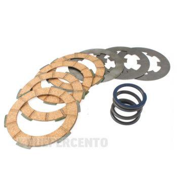 Dischi frizione SURFLEX per frizione monomolla, 4 dischi sughero, 3 infradischi, 1 molla rinforzata per Vespa 50/ 50 Special/ ET3/ Primavera/ PK50-125