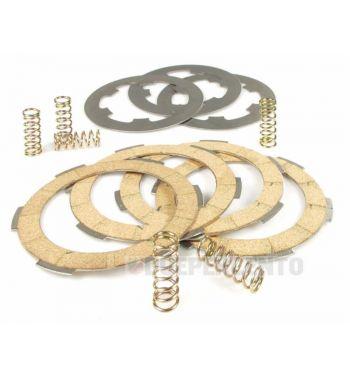 Dischi frizione SURFLEX per frizione 6 molle, 4 dischi sughero, 3 infradischi, 6 molle rinforzate per Vespa PK50/ S/ SS/ XL/ XL2/ FL/ HP/ N/ Rush/Ape