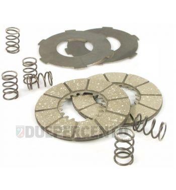 Dischi frizione NEWFREN per frizione 6 molle, 2 dischi sughero, 2 infradischi, 6 molle per Vespa 98/ 125 V1-15T/ V30-33T/ Ape A1-15T
