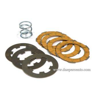 Dischi frizione FA ITALIA per frizione monomolla, 4 dischi sughero, 3 infradischi, 1 molla rinforzata per Vespa 50/ 50 Special/ ET3/ Primavera/ PK50-125
