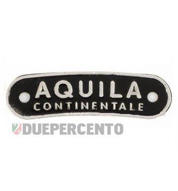 """Targhetta """"Aquila Continentale"""", sella/sella monoposto"""