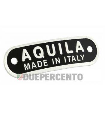 "Targhetta ""Aqulia Made in Italy"", sella/sella monoposto"
