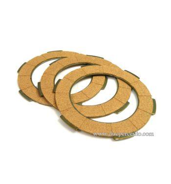 Dischi frizione FA ITALIA per frizione monomolla, 3 dischi sughero per Vespa 50/ 50 Special/ ET3/ Primavera/ PK50-125