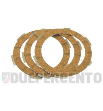 Dischi frizione FA ITALIA per frizione 6 molle, 3 dischi sughero, per Vespa PK50/ S/ SS/ XL/ XL2/ FL/ HP/ N/ Rush/Ape
