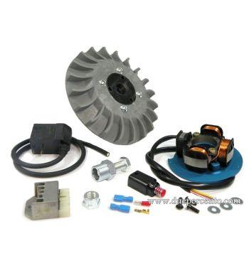 Accensione elettronica PARMAKIT, 2.4Kg, volano integrale, ventola grigia, per Vespa PX125-200/ P200E/ Lusso/ Cosa/ 125 GTR/ TS/ 150 Sprint Veloce/ 200 Rally
