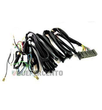 Impianto elettrico con connettore, senza avviamento elettrico per Vespa PX 125-150/ P200E/ Lusso