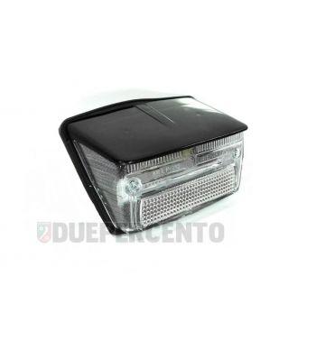 Fanale posteriore BOSATTA completo, trasparente con tettuccio nero per Vespa 50 Special/ Elestart