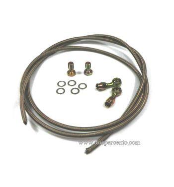 Tubo in treccia SIP per pompa e pinza idraulici per Vespa 50/ 50 Special/ ET3/ Primavera/ PK50-125/ S/ XL/ XL2/ ETS/ PX125-200/ P200E/ Rally180-200/ T5/ GTR/ TS/ Sprint