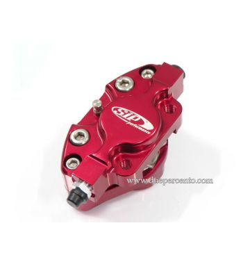 Pinza freno SIP 2 pistoncini Ø 31,5 mm, rosso anodizzato Vespa PX '98/ MY/ '11 kit GRIMECA