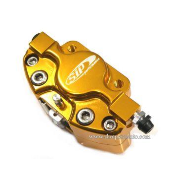 Pinza freno SIP 2 pistoncini Ø 31,5 mm, oro anodizzato Vespa PX '98/ MY/ '11 kit GRIMECA
