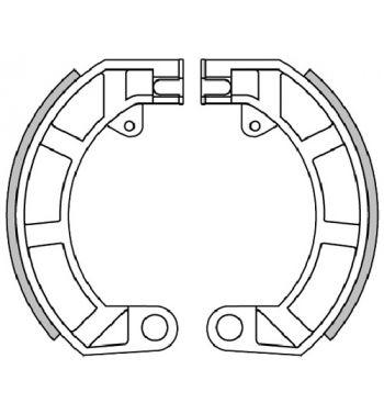 """Ganasce freno posteriore POLINI 10"""", d150x24  Vespa 50/ 50 Special/ ET3/ Primavera/ PK50/ Super"""