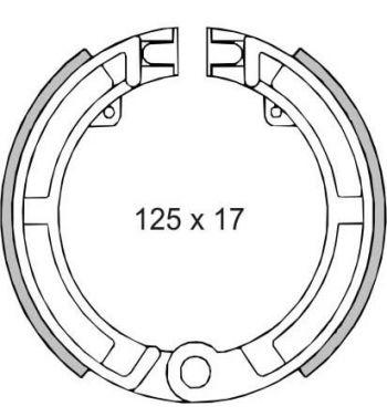 """Ganasce freno anteriore FERODO 8""""/9""""/10"""", d125x17 per Vespa 50/ 50 Special/ ET3/ Primavera/ PK50/ Super/ Ape 50"""