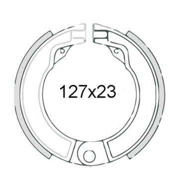 "Ganasce freno posteriori FERODO 8"", d127x23 per Vespa 125 V1-33/ VM/ VN/ VNA/ VNB1-3/ 150 VL/ VB/ VBA/ VBB1/ VGL1"
