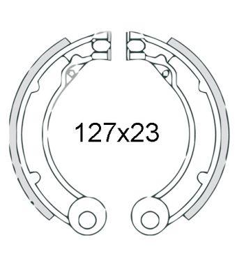 """Ganasce freno posteriori FERODO 8"""", d127x23 per Vespa 125-150 VNB4-6T/ VBB2T"""