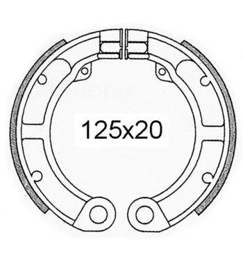 """Ganasce freno posteriori FERODO 9"""", d125x20 per Vespa 50 N/ L/ R/ S/ Special 1 serie"""