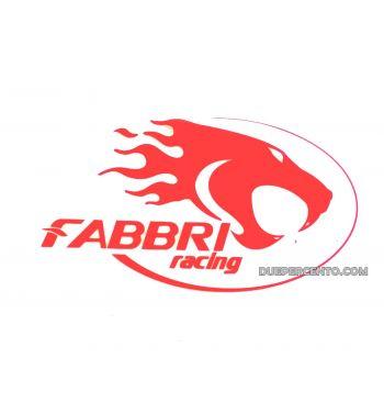 Adesivo prespaziato FABBRI RACING rosso 12X7cm