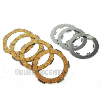 Dischi frizione FABBRI RACING per frizioni 8 molle, 4 dischi sughero, 3 infradischi per Vespa 50/ 50 Special/ ET3/ Primavera/ PK50-125/ HP/ Ape