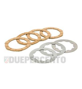 Dischi frizione FERODO, 4 dischi in sughero, 3 infradischi per Lambretta 125 LI/Special/GP/DL/150 LI/Special/SX/GP/DL/175 TV 2°-3°/200 TV/S