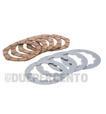 Dischi frizione FERODO, 5 dischi in sughero rosso, 4 infradischi per Lambretta 125 LI/Special/GP/DL/150 LI/Special/SX/GP/DL/175 TV 2°-3°/200 TV/S