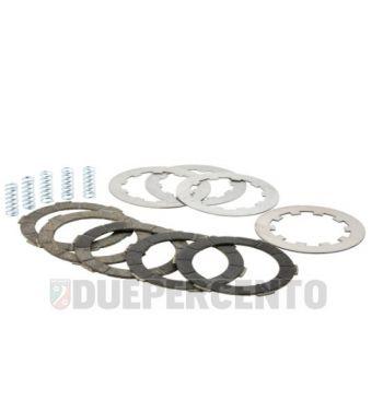Dischi frizione LTH Plus, 5 dischi in sughero rosso, 4 infradischi per Lambretta 125 LI/Special/GP/DL/150 LI/Special/SX/GP/DL/175 TV 2°-3°/200 TV/S