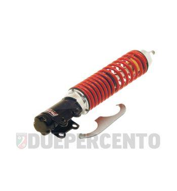 Ammortizzatore anteriore CARBONE corpo nero, molla rossa per Vespa ET2/ET4/LX/LXV/S 50-150cc