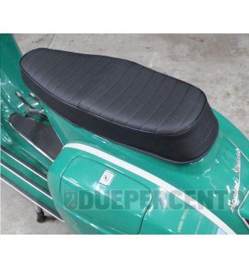 Sella sportiva nera WAVE per Vespa GTR/ TS/ Sprint/ VBA/ PX125-150/ PE200/ MY