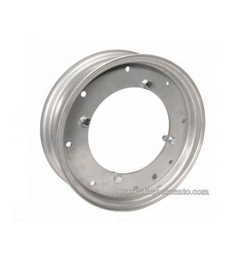 """Cerchio in acciaio F.A.ITALIA 2.10-10 scomponibile verniciato grigio metallizzato per conversione da 8"""" a 10"""" per Vespa 125-150 Super/P150S,"""
