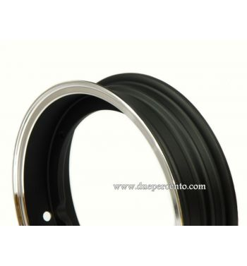 Cerchio in lega tubeless SIP PERFORMANCE 2.50-10 nero bordo lucido per Vespa 50/ 50 special/ ET3/ PX125-200/ P200E/ Rally 180-200/ T5/ GTR/ TS/ Sprint