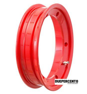 Cerchio in lega tubeless 2.0  SIP PERFORMANCE 2.10-10 rosso per Vespa 50/ 50 special/ ET3/ PX125-200/ P200E/ Rally 180-200/ T5/ GTR/ TS/ Sprint