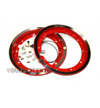 """Cerchio in lega """"RUSH"""" rosso 2.10-10 tubeless scomponibile"""
