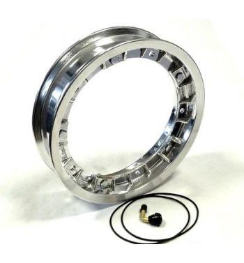 """Cerchio in lega tubeless scomponibile FA ITALIA """"RUSH"""" 2.10-10 alluminio lucido per Vespa 50/ 50 special/ ET3/ PX125-200/ P200E/ Rally 180-200/ T5/ GTR/ TS/ Sprint"""