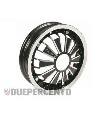 """Cerchio in lega FA ITALIA """"RACING"""" nero 2.10-10 - scomponibile per Vespa 50/ 50 special/ ET3/ PX125-200/ P200E/ Rally 180-200/ T5/ GTR/ TS/ Sprint"""