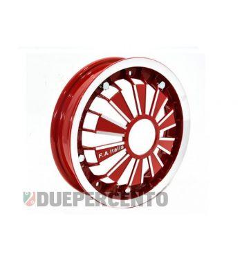 """Cerchio in lega FA ITALIA """"RACING"""" rosso 2.10-10 - scomponibile per Vespa 50/ 50 special/ ET3/ PX125-200/ P200E/ Rally 180-200/ T5/ GTR/ TS/ Sprint"""