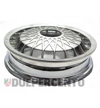 """Cerchio in lega FA ITALIA """"CERES"""" cromato 2.10-10 - scomponibile per Vespa 50/ 50 special/ ET3/ PX125-200/ P200E/ Rally 180-200/ T5/ GTR/ TS/ Sprint"""