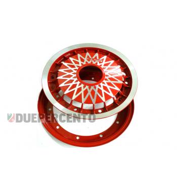 """Cerchio in lega FA ITALIA """"CERES"""" rosso 2.10-10 - scomponibile per Vespa 50/ 50 special/ ET3/ PX125-200/ P200E/ Rally 180-200/ T5/ GTR/ TS/ Sprint"""