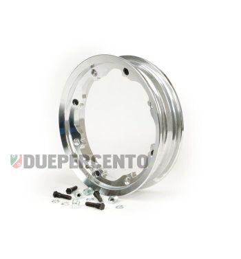 Cerchio in lega tubeless Octopus FA ITALIA 2.10-10 alluminio lucidato per Lambretta 125 LI/Special/GP/DL/150 LI/Special/SX/GP/175 TV/200 TV/SX/GP/DL