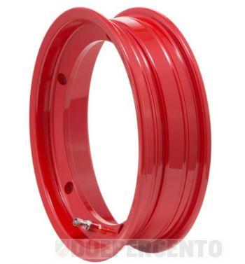 Cerchio in lega tubeless SIP 2.50-10 rosso per Vespa 50/ 50 special/ ET3/ PX125-200/ P200E/ Rally 180-200/ T5/ GTR/ TS/ Sprint