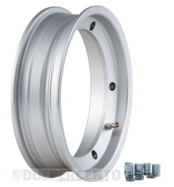 Cerchio in lega tubeless SIP 2.50-10 argento opaco per Vespa 50/ 50 special/ ET3/ PX125-200/ P200E/ Rally 180-200/ T5/ GTR/ TS/ Sprint