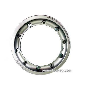 Cerchio in lega TUBELESS PINASCO 2.10-10 scomponibile grigio per Vespa 50/ 50 special/ ET3/ PX125-200/ P200E/ Rally 180-200/ T5/ GTR/ TS/ Sprint