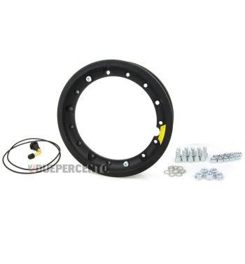 Cerchio in lega TUBELESS PINASCO 2.10 scomponibile nero per Vespa 50/ 50 special/ ET3/ PX125-200/ P200E/ Rally 180-200/ T5/ GTR/ TS/ Sprint