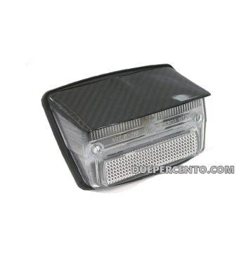 Fanale posteriore BOSATTA trasparente con tettuccio carbonio per Vespa 50 Special/ Elestart