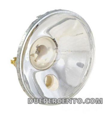 Fanale anteriore BOSATTA con vetro liscio per lampada alogena per Vespa ET3/ Primavera/ SUPER