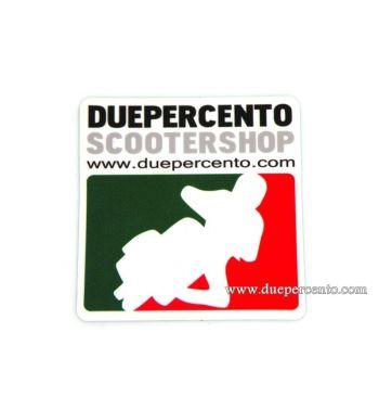Adesivo Duepercento scootershop Corse- 65x63