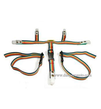 Portapacchi anteriore PLC Corse Arcobaleno per Vespa Sprint/ GT/ GTR/ Sprint Veloce/ TS/ PX