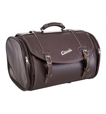 """Borsa/valigia SIP """"Classic"""" marrone imitazione vera pelle, grande, per portapacchi Vespa/Lambretta"""