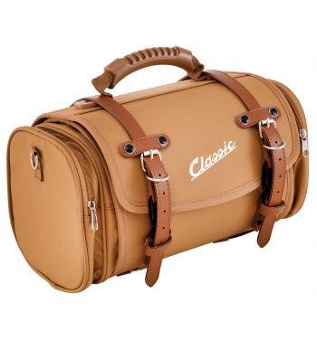 """Borsa/valigia SIP """"Classic"""", piccola, nylon, marrone per portapacchi Vespa/Lambretta"""